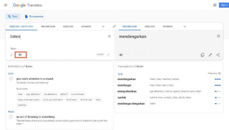Belajar Bahasa Inggris Pakai Google 1 Min