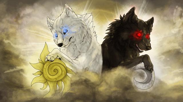 Matahari Dan Bulan Dikejar Dua Serigala