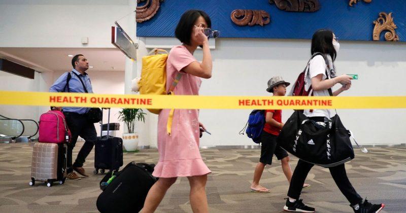 0 Thermal Screening For Coronavirus At Ngurah Rai International Airport In Indonesia Denpasar 22 Ja