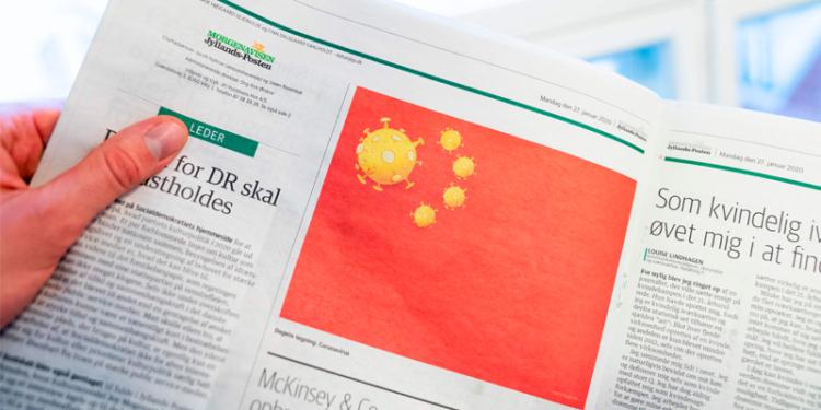 China Marah Kepada Media Denmark Karena Mengubah Logo Bintang Menjadi Virus Corona