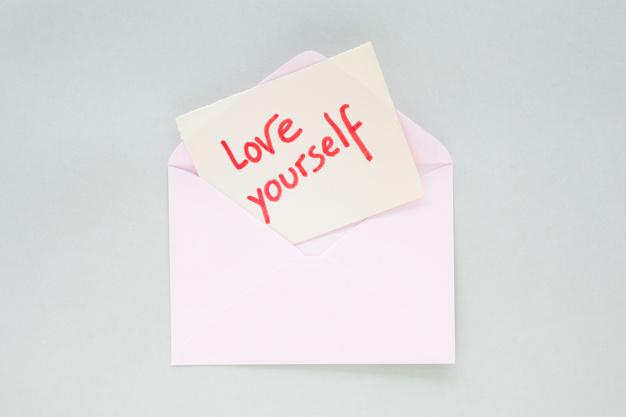 Love Yourself Inscription Paper Light Envelope 23 2148023920