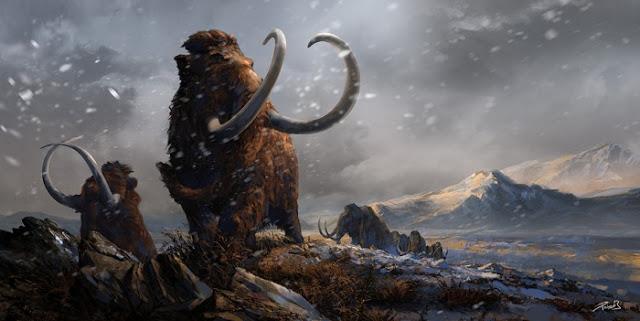 Prehistoric Mammals Woolly Mammoths By Balcsika D78cv9a