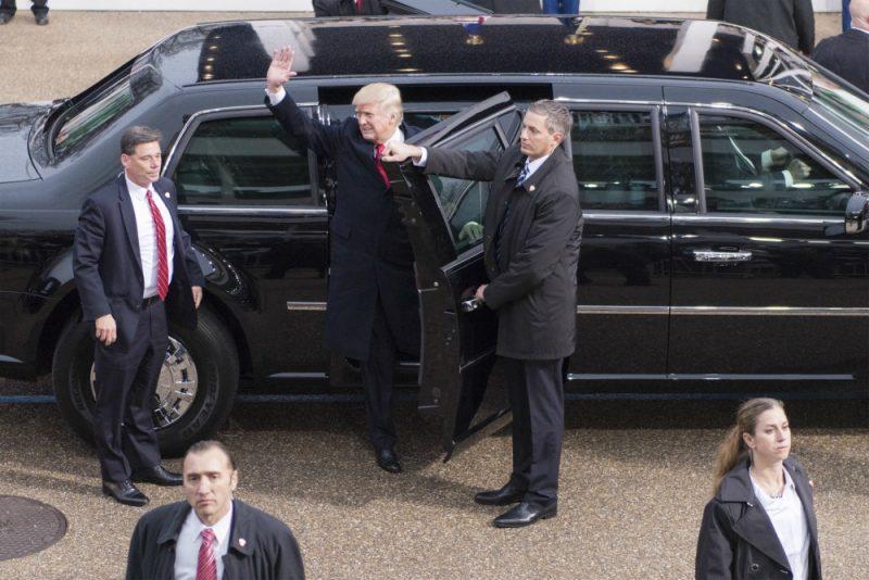 Donald Trump Arriving At Inaugural Parade 01 20 17