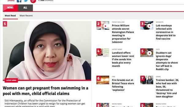 Pernyataan Komisioner KPAI Menjadi Berita Teratas di Media Di Inggris