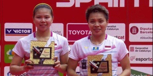 Ganda Putri Indonesia Greysia/Apriani Juara di Spanyol