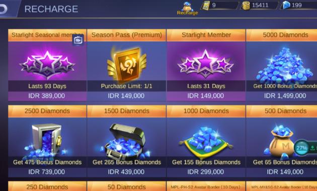 Beli Diamond Mobile Legends Di In Game Langsung