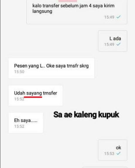 Chat Typo Penjual Dan Pembeli