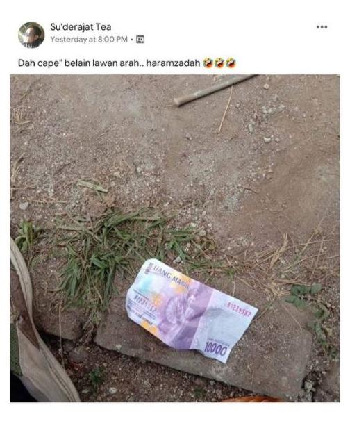 Momen Kocak Nemu Uang