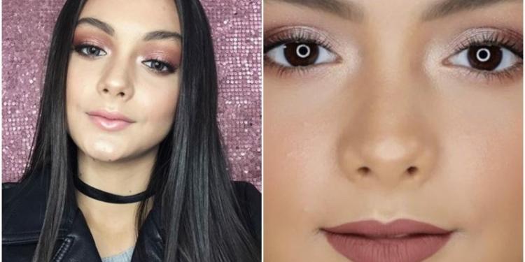 Potret Amanda Rawles Dengan Balutan Makeup Tebal