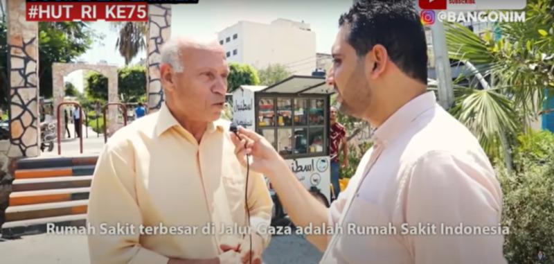 Sosial Experimen Warga Palestina Untuk Membakar Bendera Indonesia
