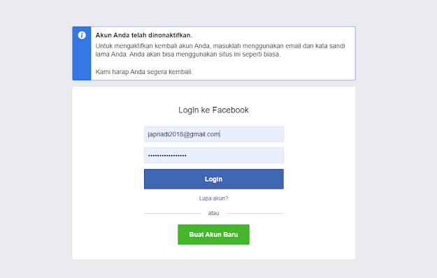 Hapus akun Facebook sementara