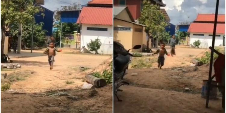 Bocah Viral Dikejar Ibunya Karena Tak Mau Tidur Siang