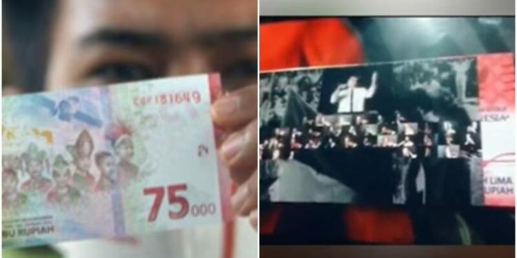 Pecahan Uang Rp 75.000 Bisa Nyanyi