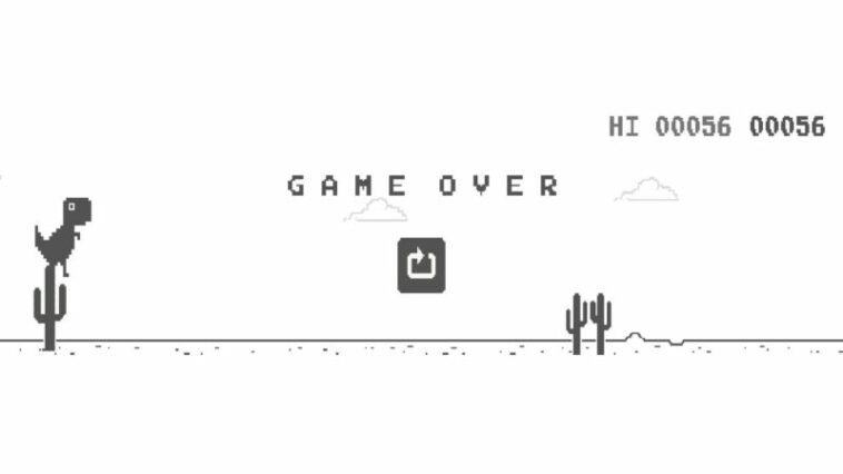 Game Dinosaurus Dari Google Chrome