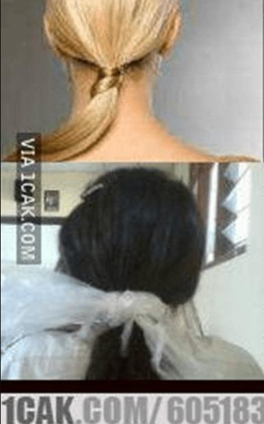 ikat rambut pakai plastik