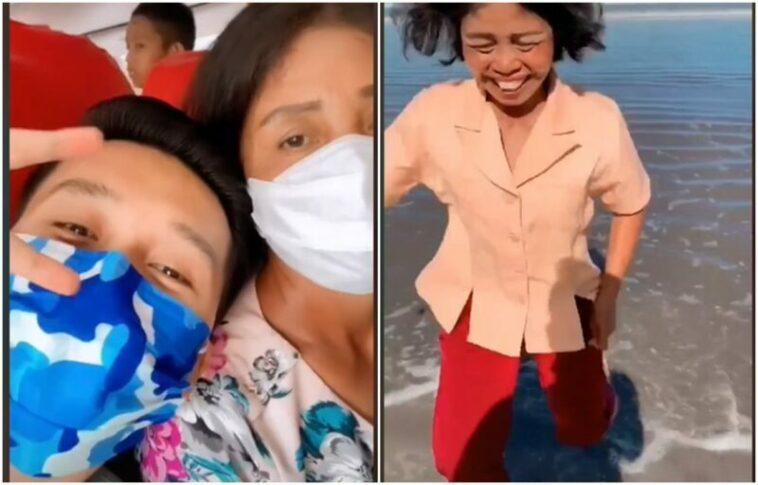 Kisah Haru Anak Yang Wujudkan Impian Ibunya Naik Pesawat