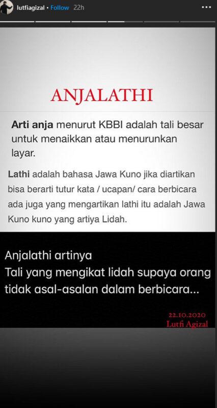 Luthfi Agizal Cetuskan Kata Anjalathia