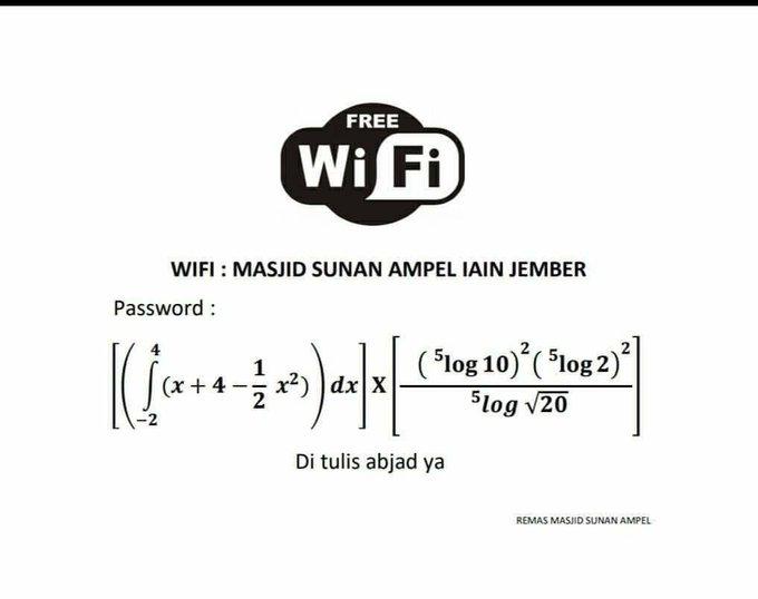 Password Wifi Menggunakan Soal Matematika