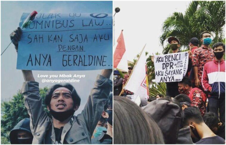 Poster Lucu Demo Dari Fans Garis Anya Geraldine