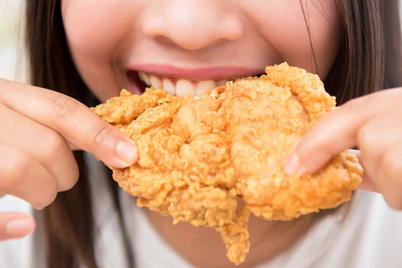 Eating Fried Chicken Grave1