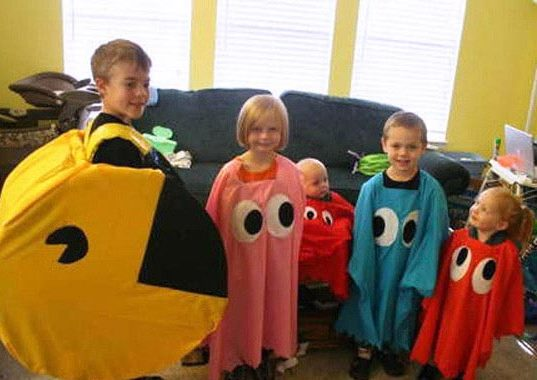 Fancy Dress Costume Pac Man Ghosts Video Games Group