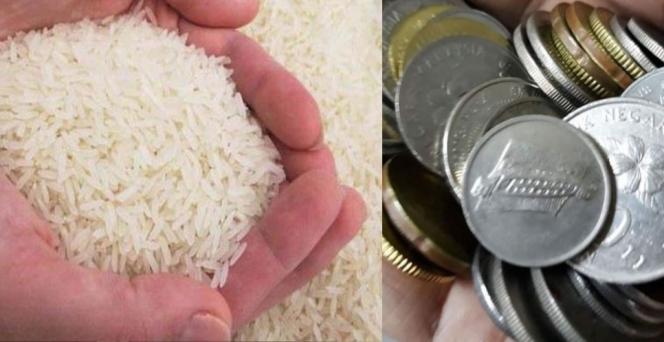 Ingin Beli Beas Pakai Uang Receh, Namun Uangnya Tak Cukup