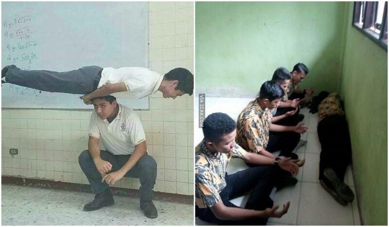 Kelakuan Kocak Siswa Saat Di Kelas