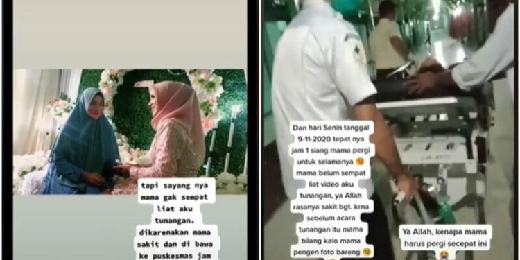 Momen Pertunangan Haru Ditinggal Pergi Sang Ibunda