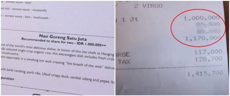 Nasi Goreng Sultan Seharga 1 Juta Rupiah