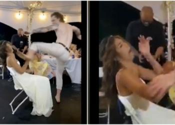 Suami Tak Sengaja Tendang Wajah Istrinya Di Hari Pernikahan
