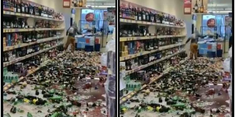 Video Wanita Mengamuk Dan Hancurkan 500 Botol Alkohol