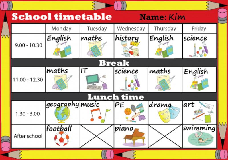 Writing School Timetable Full Version
