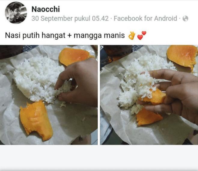 makan buah campur nasi