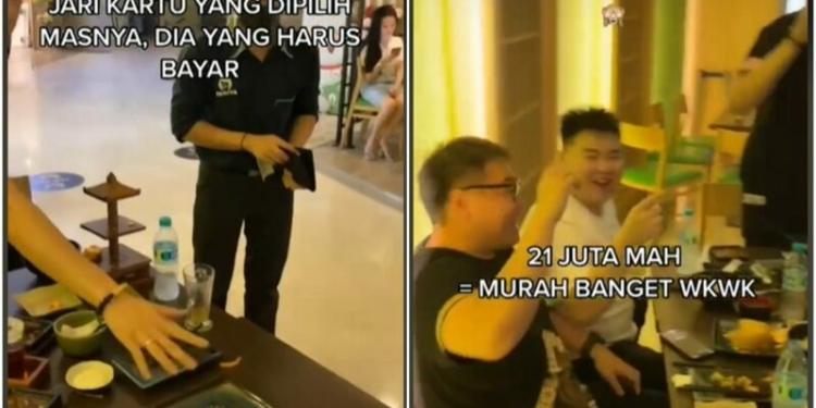 Crazy Rich Surabaya Berebut Bayar Tagihan Makanan