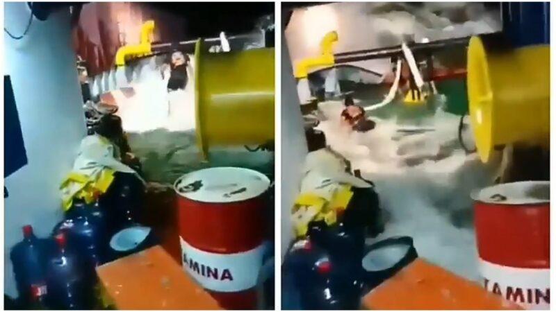 Kisah Awak Kapal Yang Lantunkan Shalawat Saat Diterjang Banjir