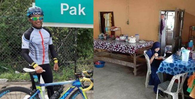 Pesepeda Makan Ternyata Rumah Warga