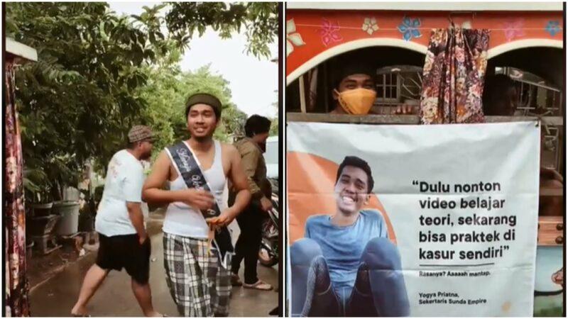 Rayakan Pesta Lajang Pria Ini Diarak Berkeliling Kampung