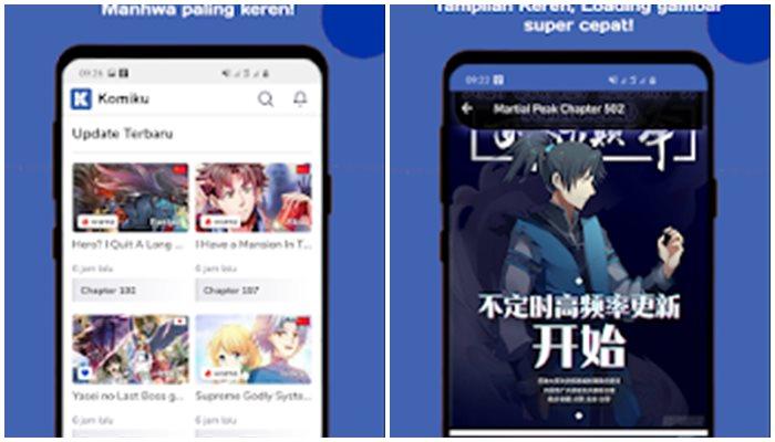 Aplikasi Baca Manga Komiku