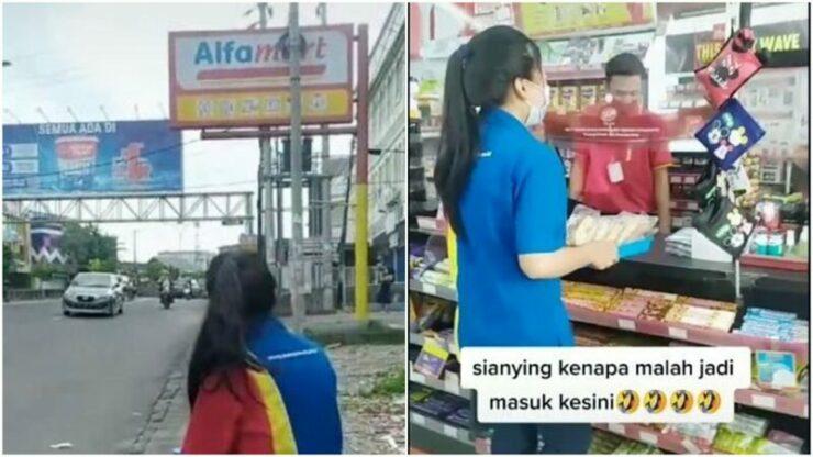 Demi Kejar Target, Pegawai Minimarket Ini Tawarkan Dagangan Ke Toko Kompetitor