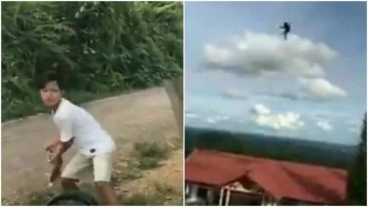 Hanya Demi Konten, Pemuda Ini Tega Membuang Kucing Dari Puncak Bukit