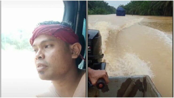 Kisah Pengemudi Truk Yang Selamat Dari Banjir Karena Unggah Video Ke Tiktok