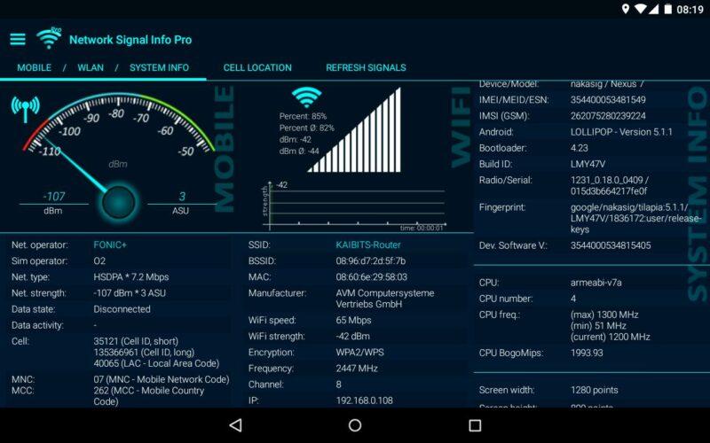 Network Signal Info