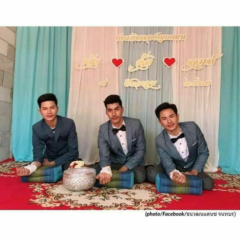 pernikahan sejenis antara tiga pria