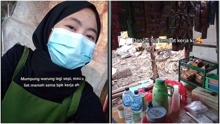 Meski Bekerja Di Dekat Tumpukan Sampah, Wanita Ini Tak Malu Dan Tetap Bersyukur