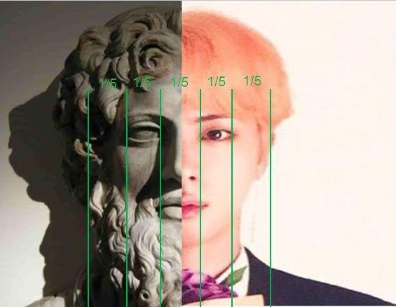 Perbandingan Wajah Jin Bts Dan Dewa Zeus