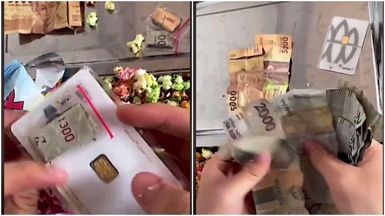Rejeki Nomplok, Jajan Snack Popcorn, Pria Ini Dapat Hadiah Emas Batangan