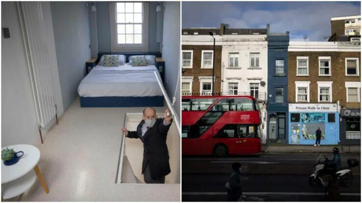 Rumah Kurus Di London Seharga Rp 18 Miliar, Berada Diantara Salon Rambut Dan Klinik Dokter