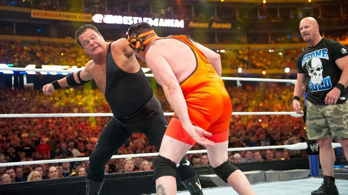 pertandingan WWE komentator menang
