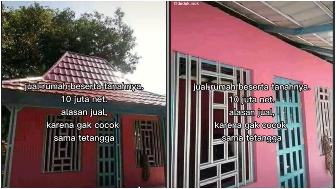 Gak Cocok Dengan Tetangga, Rumah Ini Dijual Murah Hanya 10 Juta Saja