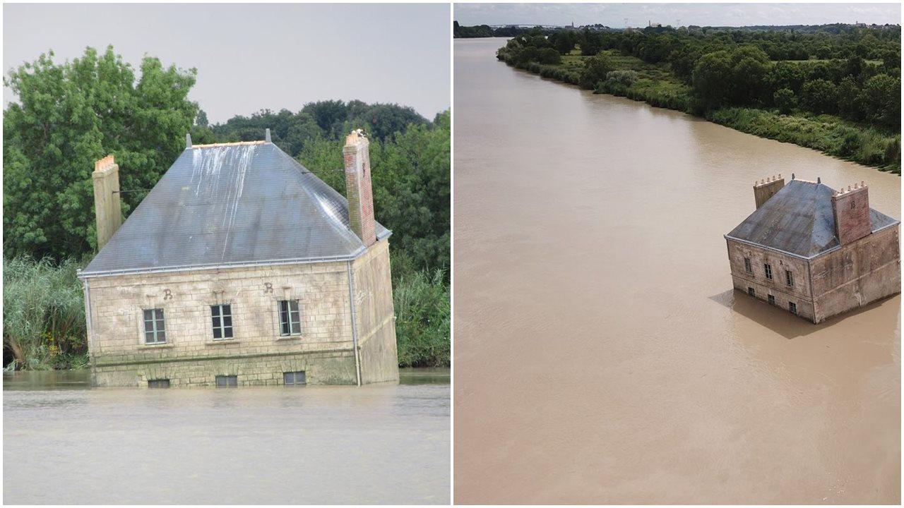 Gokil, Rumah Ini Dibangun Di Tengah Sungai, Seperti Hanyut Terbawa Arus